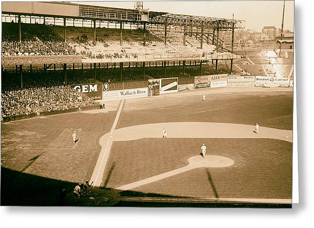 Analog Greeting Cards - The Polo Grounds 1923 Greeting Card by Mountain Dreams