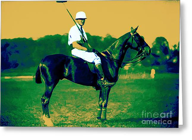 Clubhouse Greeting Cards - The Polo Player - 20130208 Greeting Card by Wingsdomain Art and Photography