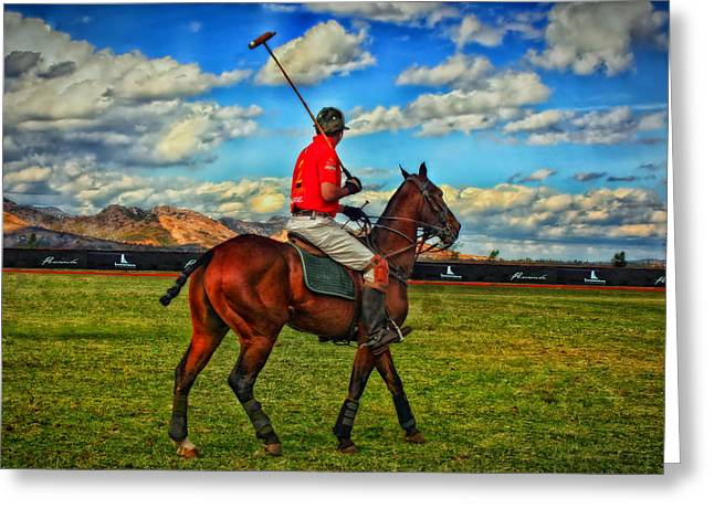 Polo Player Greeting Cards - The Polo Player Greeting Card by Mountain Dreams