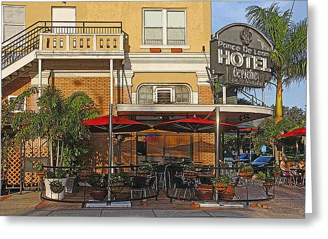 St Petersburg Florida Greeting Cards - The Ponce De Leon Hotel Greeting Card by HH Photography