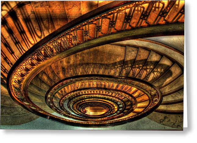 Ponce Greeting Cards - Looking Down The Ponce Stairs opened in 1913 Greeting Card by Reid Callaway