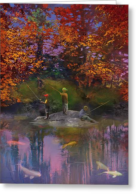 Robert Conway Greeting Cards - The Pond on the Eighteenth Greeting Card by Robert Conway
