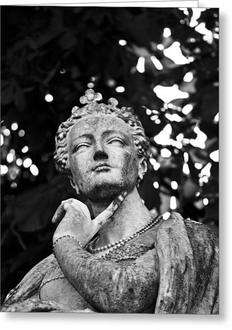 Statue Portrait Greeting Cards - The Ponderer Greeting Card by Chris Whittle