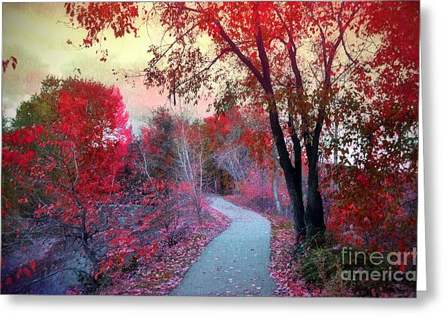 Okanagan Valley Greeting Cards - The Pondering Path Greeting Card by Tara Turner