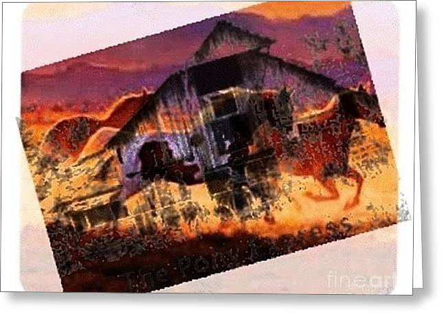 Book Cover Art Mixed Media Greeting Cards - The Pony Express Greeting Card by PainterArtist FIN
