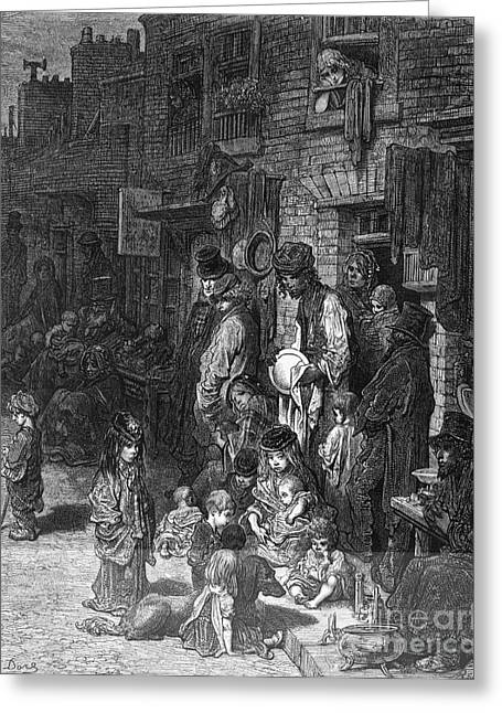 Adult And Child Greeting Cards - The Poor Of London, 19th Century Artwork Greeting Card by British Library