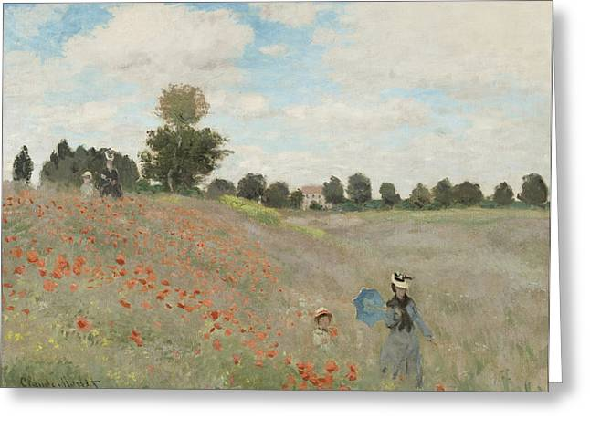 The Poppy Field Greeting Card by Georgia Fowler