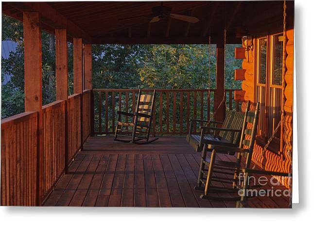 The Porch Beckons Greeting Card by Kay Pickens