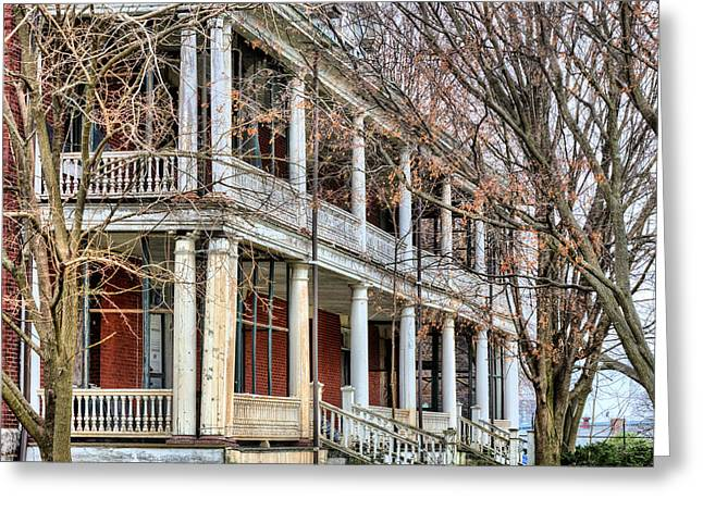 Officers Quarters Greeting Cards - The Porch Greeting Card by JC Findley