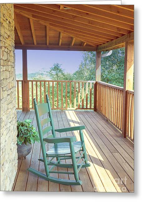 Pull Greeting Cards - The Porch Greeting Card by Kay Pickens