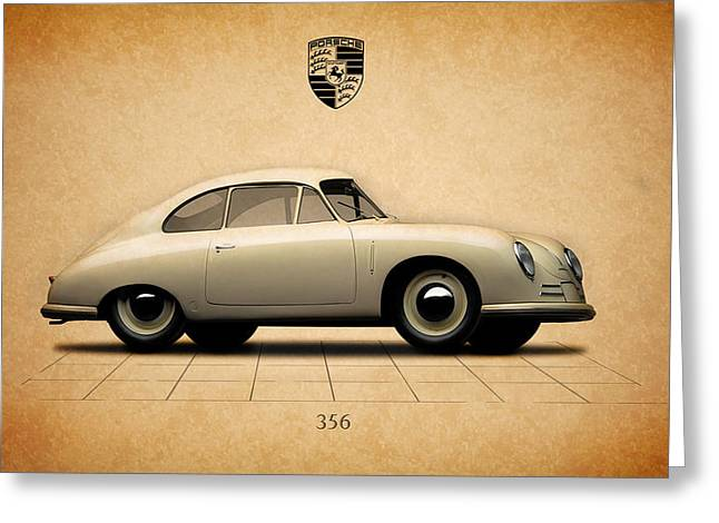 Classic Porsche 356 Greeting Cards - The Porsche 356 Greeting Card by Mark Rogan