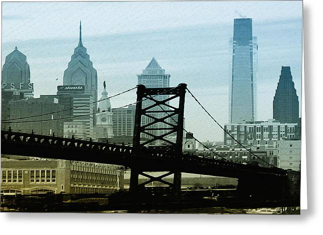 Phila Greeting Cards - The Port of Philadelphia Greeting Card by Bill Cannon
