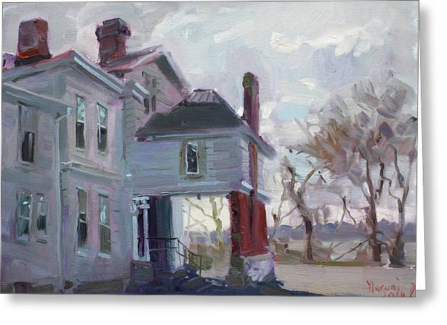 The Houses Greeting Cards - The Porter Mansion Greeting Card by Ylli Haruni