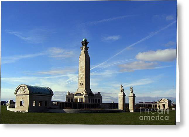 Terri Waters Greeting Cards - The Portsmouth Naval Memorial Southsea Greeting Card by Terri  Waters