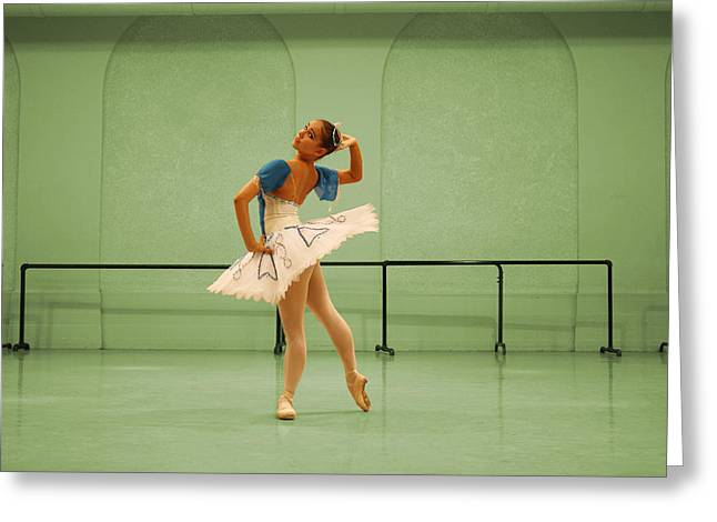 Dancer Rehearsing Greeting Cards - The Pose Greeting Card by Wendy Potocki
