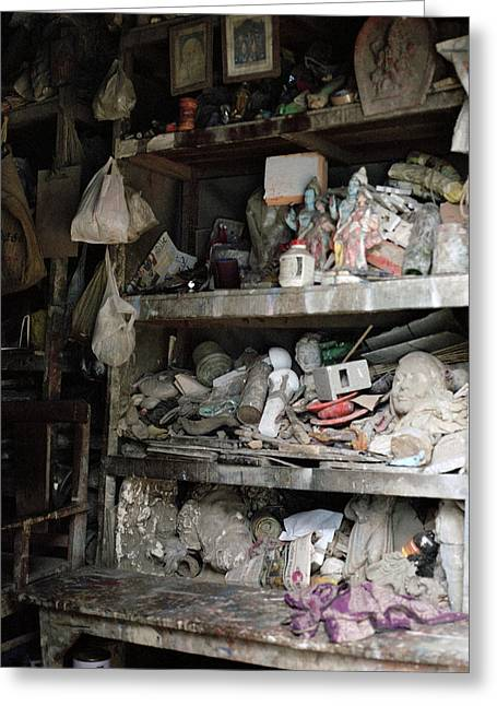 Artist Working Photo Photographs Greeting Cards - The Potters Workshop Greeting Card by Shaun Higson