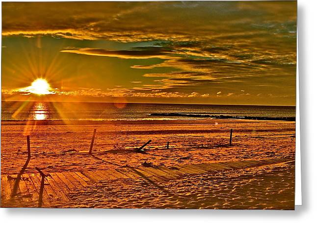 Jerseyshore Greeting Cards - The Power Of Light Greeting Card by Joe  Burns