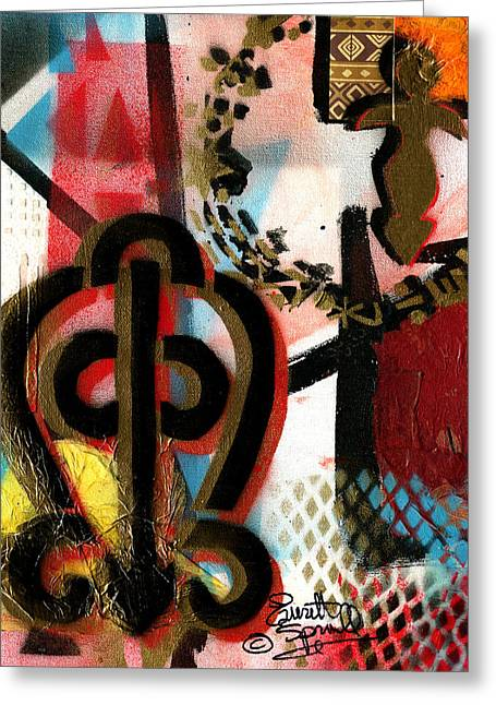 Romare Bearden Greeting Cards - The Power of Love Greeting Card by Everett Spruill