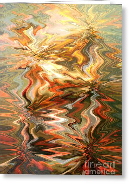 Carol Groenen Abstracts Greeting Cards - The Power of Peace - Abstract Art Greeting Card by Carol Groenen
