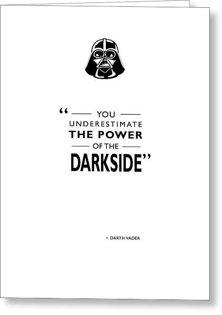 Star Wars Photographs Greeting Cards - The Power Of The Darkside Greeting Card by Mark Rogan