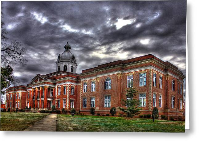 County Seat Greeting Cards - The PowerHouse Putnam County Court House Greeting Card by Reid Callaway