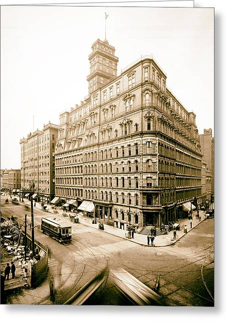 Rochester Skyline Greeting Cards - The Powers Building - Rochester NY 1903 Greeting Card by Mountain Dreams