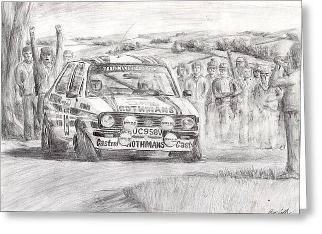 World Rally Championship Greeting Cards - The Powerslide Greeting Card by Ryan Casillas