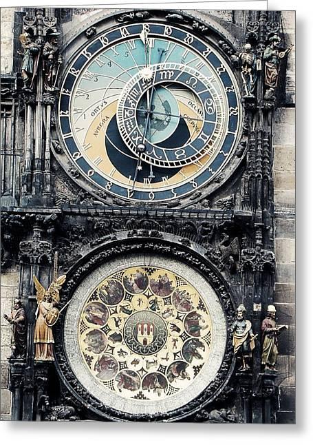 Praha Digital Art Greeting Cards - The Prague Orloj Greeting Card by Zinvolle Art