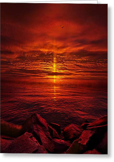 Sunrise Greeting Cards - The Precipice Greeting Card by Phil Koch