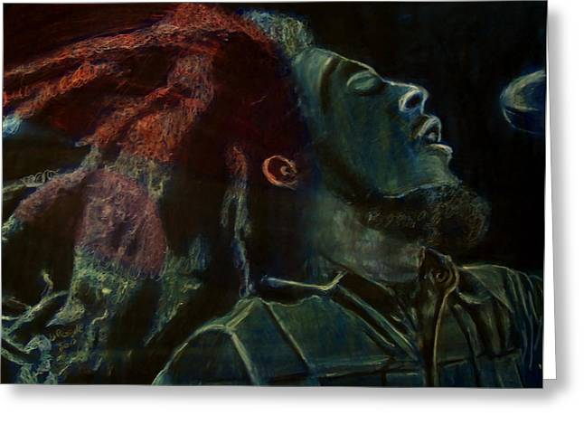 Leaders Pastels Greeting Cards - The Predecessor feat Bob Marley Greeting Card by D Rogale