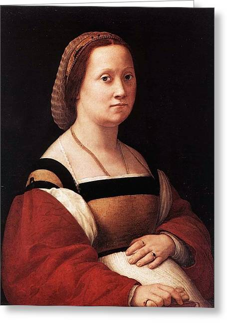Palatina Greeting Cards - The Pregnant Woman Greeting Card by Raffaello Sanzio