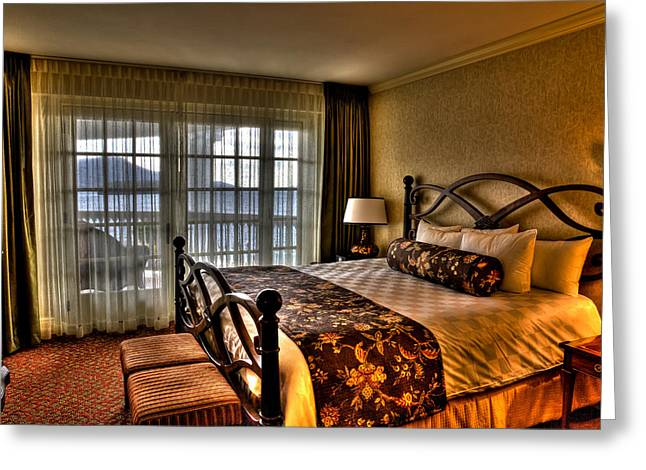 The Lake George Greeting Cards - The Premier Balcony Suite - Sagamore Resort Greeting Card by David Patterson