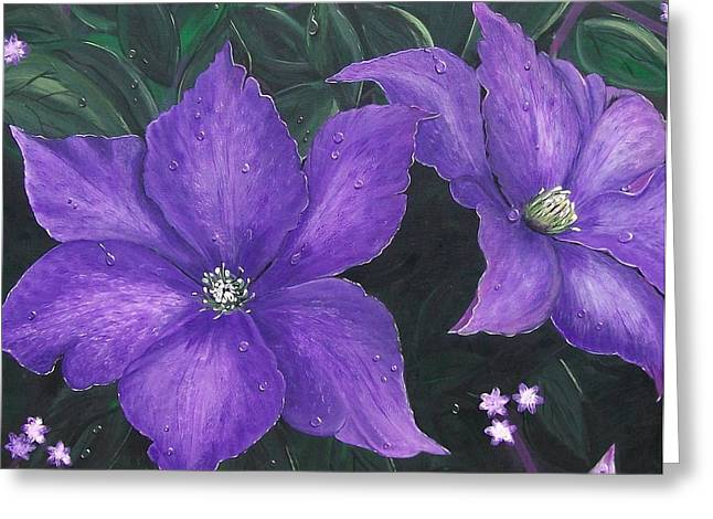 """flora Prints"" Greeting Cards - The President Clematis Greeting Card by Sharon Duguay"