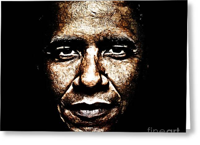 Hussein Greeting Cards - The President Greeting Card by The DigArtisT