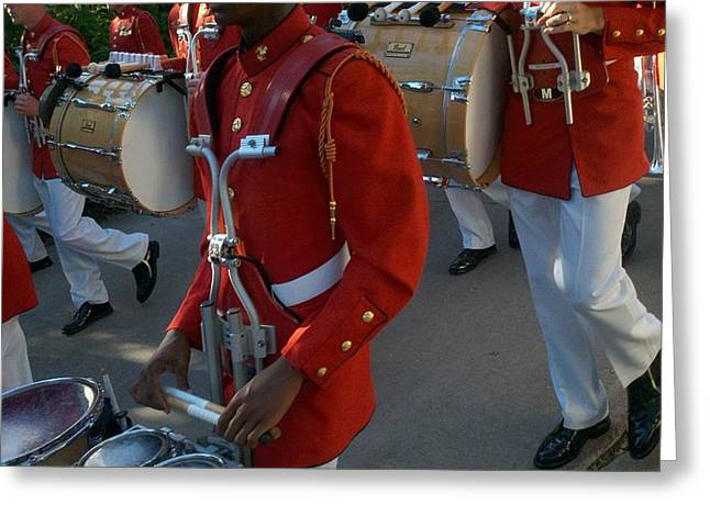 Marching Band Greeting Cards - The Presidents Own Greeting Card by Greg Kopriva