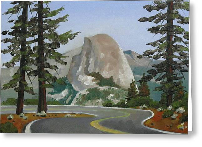 Half Dome Paintings Greeting Cards - The Prettiest of Views Greeting Card by Dorothy Jenson
