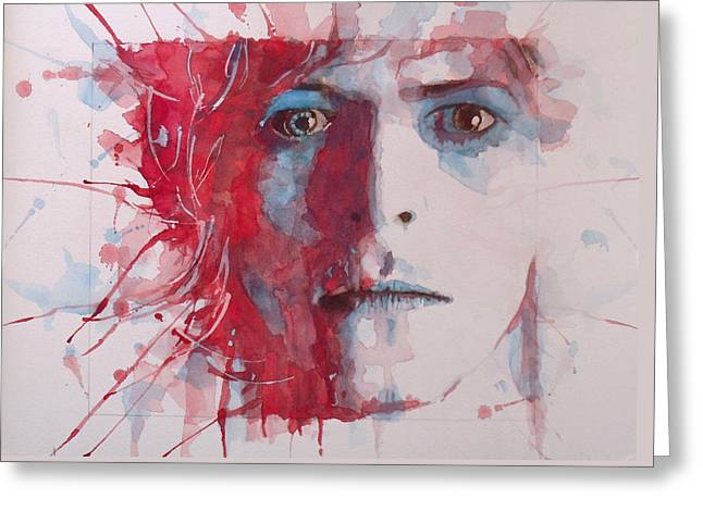 Pop Singer Greeting Cards - The Prettiest Star Greeting Card by Paul Lovering