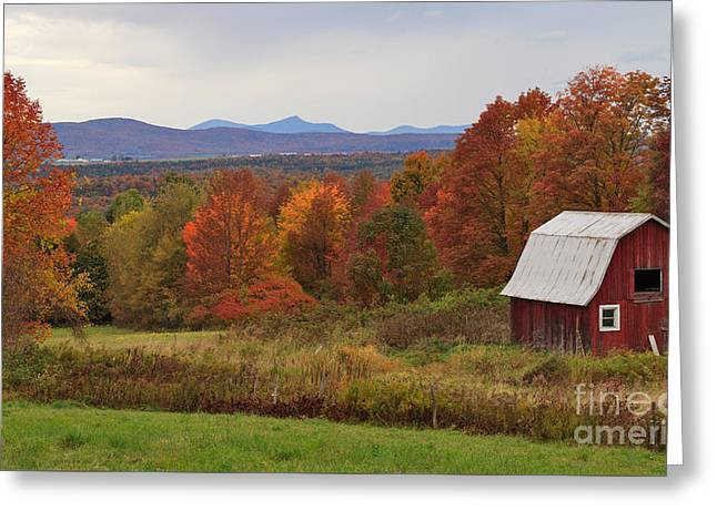 Charles Kozierok Greeting Cards - The Pretty Little Barn Eighteen Miles from Jay Peak Greeting Card by Charles Kozierok
