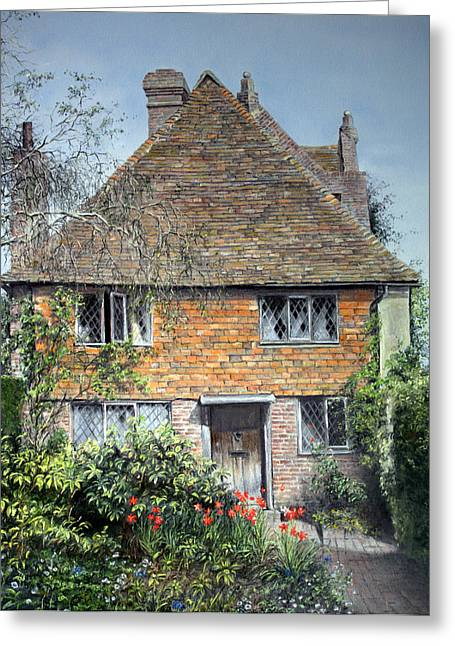 Historic Architecture Pastels Greeting Cards - The Priests House Sissinghurst Castle Greeting Card by Rosemary Colyer
