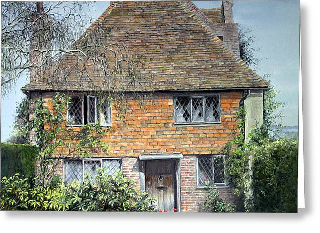 Old Door Pastels Greeting Cards - The Priests House Sissinghurst Castle Greeting Card by Rosemary Colyer
