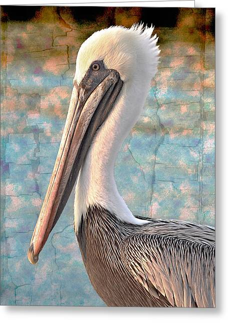 Pelican Greeting Cards - The Prince Greeting Card by Debra and Dave Vanderlaan