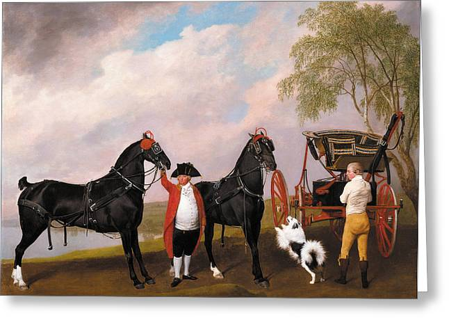 Wales Greeting Cards Greeting Cards - The Prince of Wales Phaeton Greeting Card by George Stubbs
