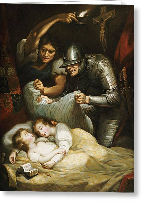 Royalty Greeting Cards - The Princes In The Tower Oil On Canvas Greeting Card by James Northcote
