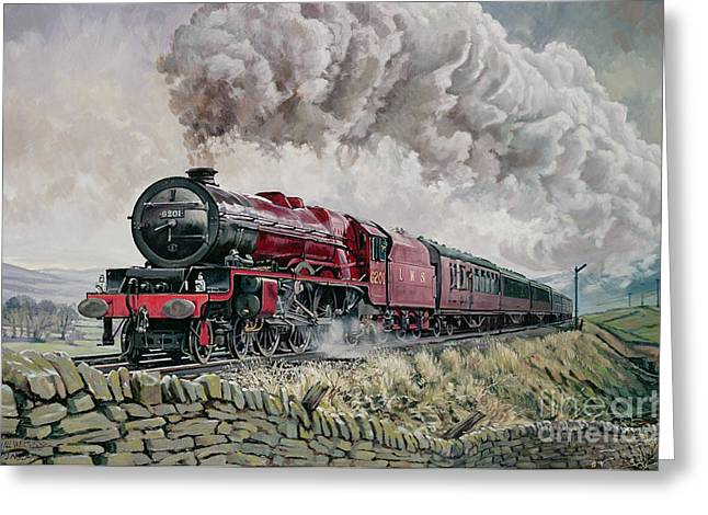 Daylight Paintings Greeting Cards - The Princess Elizabeth Storms North in All Weathers Greeting Card by David Nolan