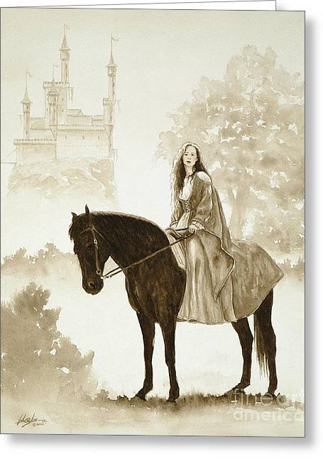 Knickers Greeting Cards - The Princess has a day out. Greeting Card by John Silver