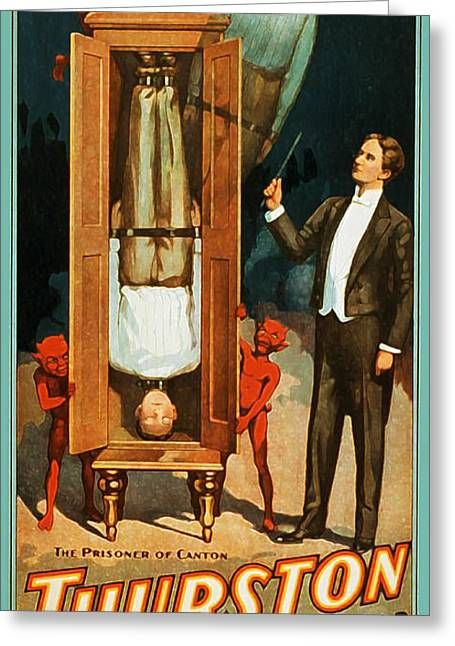 Magic Show Greeting Cards - The Prisoner of Canton Greeting Card by The  Vault - Jennifer Rondinelli Reilly