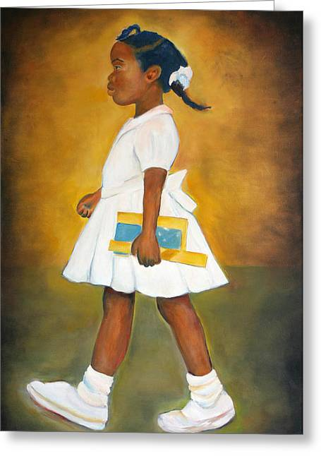 Desegregation Greeting Cards - The Problem She Lives With Greeting Card by Sharon Norwood