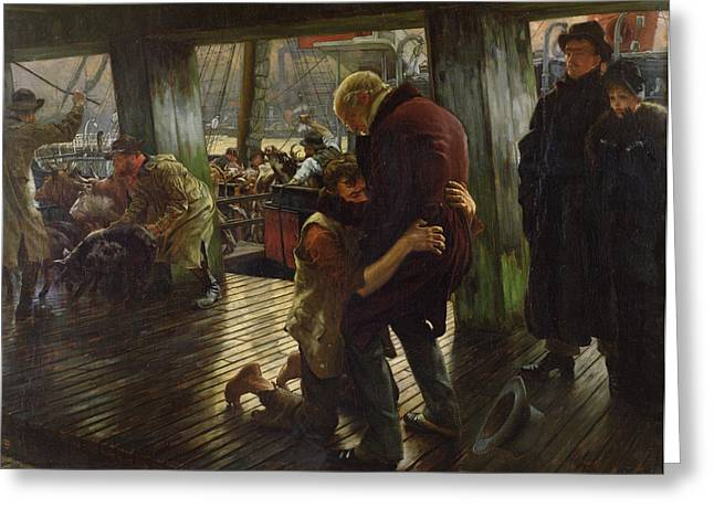Embrace Greeting Cards - The Prodigal Son in Modern Life Greeting Card by James Jacques Joseph Tissot