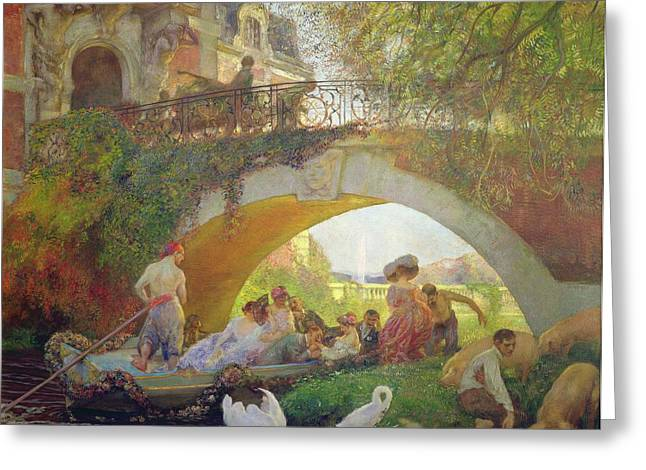 Barge Greeting Cards - The Prodigal Son Oil On Canvas Greeting Card by Gaston de La Touche