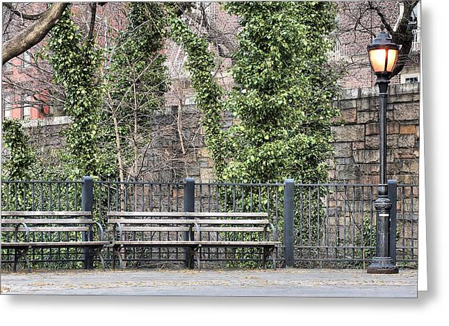 Brooklyn Promenade Greeting Cards - The Promenade  Greeting Card by JC Findley